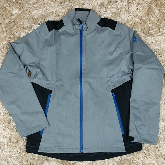 a5f1a53ee59b Adidas Climaproof Heathered Rain Golf Jacket